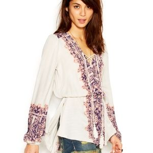 Free People~Wildest Moment~Purple~Peasant Blouse~S